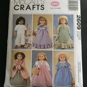 """18"""" Doll Clothes Sewing Pattern McCall's Gotz"""
